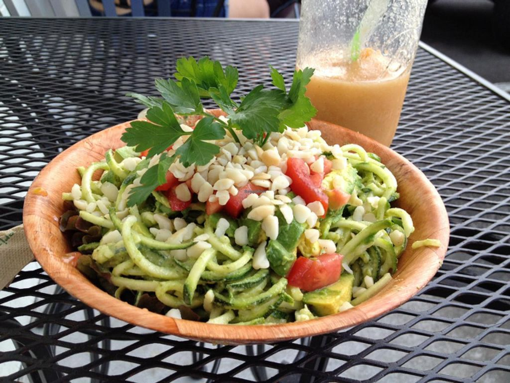 """Photo of Sweet Cane Cafe  by <a href=""""/members/profile/Veg4Jay"""">Veg4Jay</a> <br/>Raw zucchini Pasta <br/> January 13, 2015  - <a href='/contact/abuse/image/36939/90305'>Report</a>"""