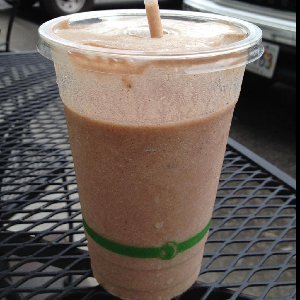"""Photo of Sweet Cane Cafe  by <a href=""""/members/profile/Veg4Jay"""">Veg4Jay</a> <br/>Durian/Cacao Smoothie <br/> January 13, 2015  - <a href='/contact/abuse/image/36939/90313'>Report</a>"""