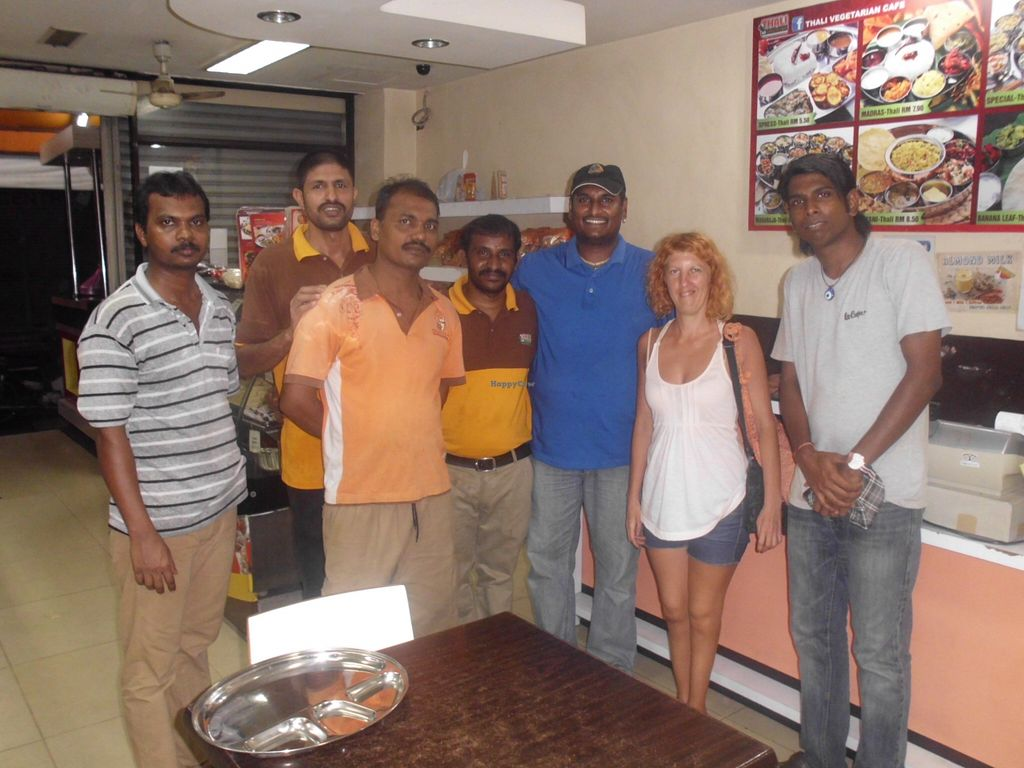 """Photo of Thali NR Sweets Cafe  by <a href=""""/members/profile/Maros"""">Maros</a> <br/>Nice, friendly staff of Thali NR Sweets Cafe and the neighboring Vishnu's Pizza with which they share the premises <br/> March 5, 2016  - <a href='/contact/abuse/image/36947/138898'>Report</a>"""