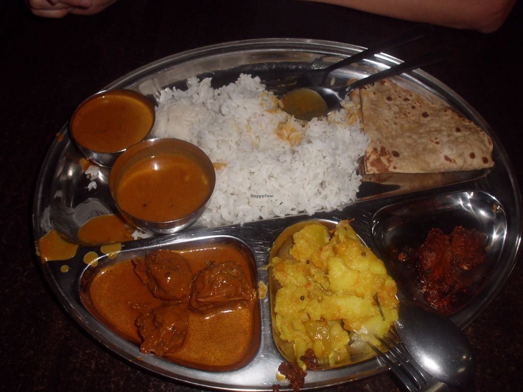 """Photo of Thali NR Sweets Cafe  by <a href=""""/members/profile/Maros"""">Maros</a> <br/>The vegan Thali option. :) <br/> March 5, 2016  - <a href='/contact/abuse/image/36947/138901'>Report</a>"""