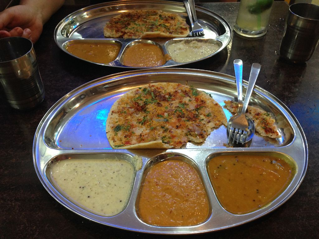 """Photo of Thali NR Sweets Cafe  by <a href=""""/members/profile/Tofulicious"""">Tofulicious</a> <br/>Utthapam  <br/> February 11, 2017  - <a href='/contact/abuse/image/36947/225110'>Report</a>"""