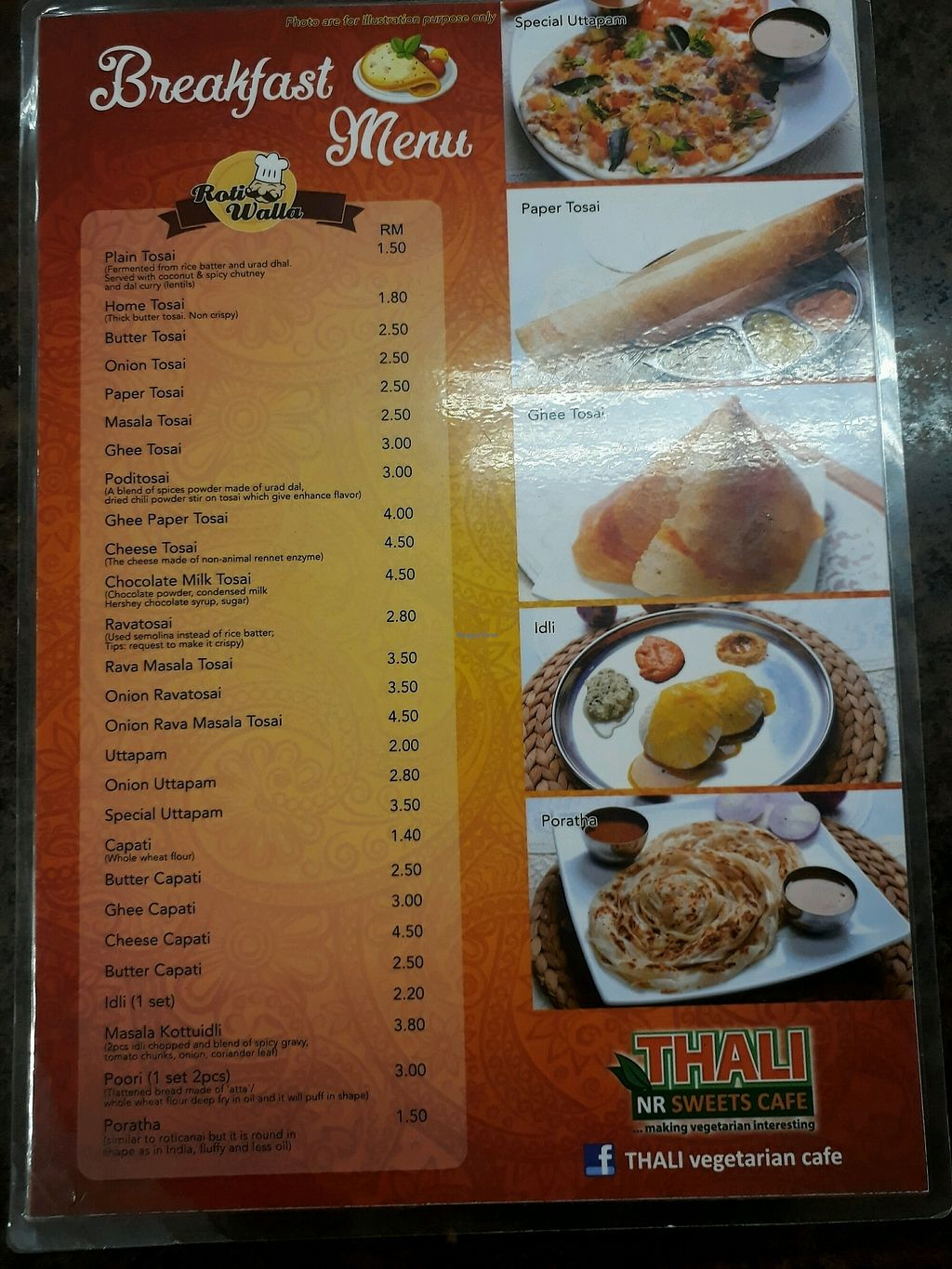 """Photo of Thali NR Sweets Cafe  by <a href=""""/members/profile/LilacHippy"""">LilacHippy</a> <br/>Breakfast Menu <br/> October 28, 2017  - <a href='/contact/abuse/image/36947/319583'>Report</a>"""