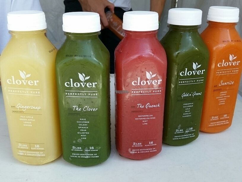 """Photo of Clover Juice  by <a href=""""/members/profile/eric"""">eric</a> <br/>juice line <br/> October 23, 2016  - <a href='/contact/abuse/image/36968/183947'>Report</a>"""