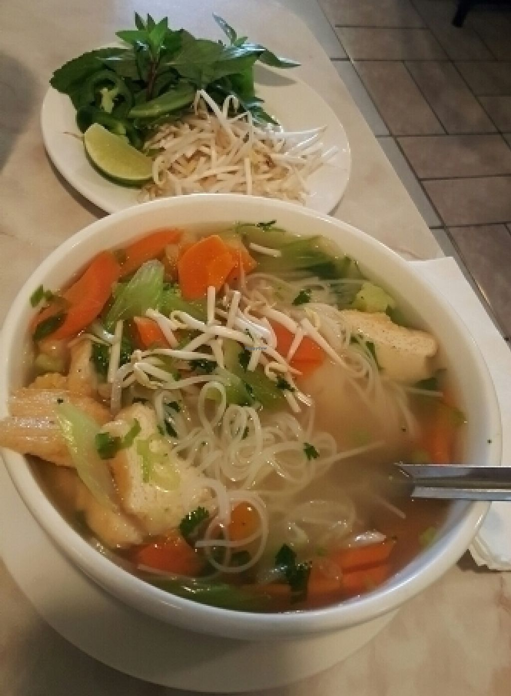 """Photo of Bambu Vietnamese Cuisine  by <a href=""""/members/profile/0verdrive"""">0verdrive</a> <br/>Vegan pho!!! Not on menu ask for it <br/> July 31, 2016  - <a href='/contact/abuse/image/36971/207211'>Report</a>"""