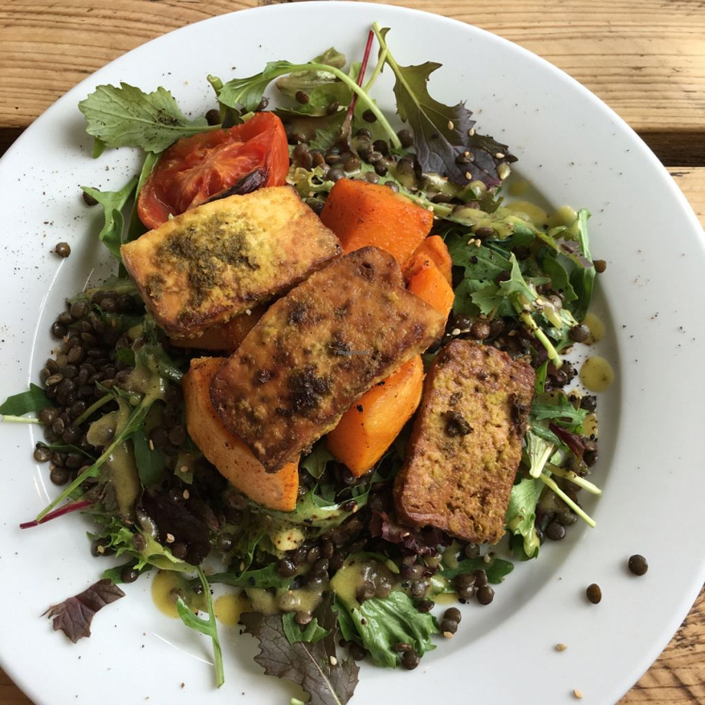 "Photo of The Green Rocket Cafe  by <a href=""/members/profile/manic-organic"">manic-organic</a> <br/>Warm squash and lentil salad with marinated tofu  <br/> May 19, 2016  - <a href='/contact/abuse/image/36987/149822'>Report</a>"