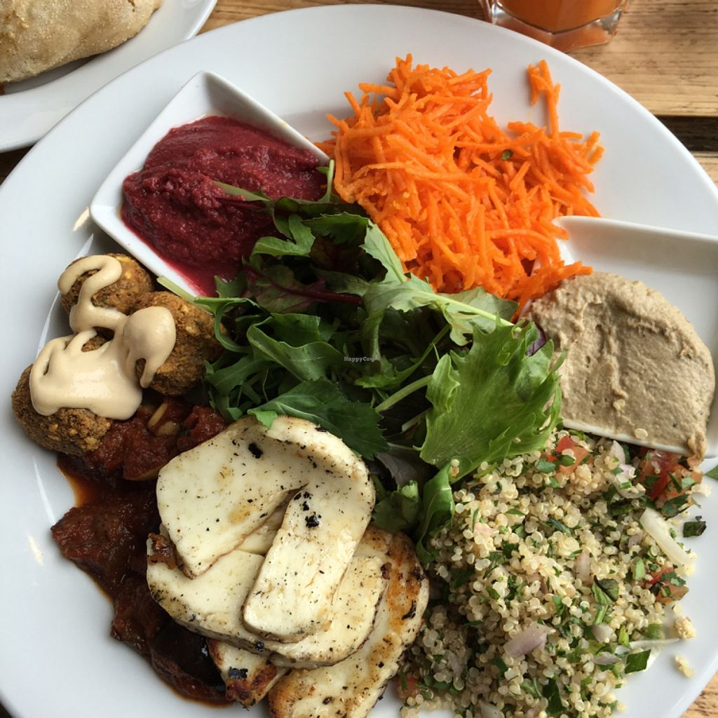 "Photo of The Green Rocket Cafe  by <a href=""/members/profile/manic-organic"">manic-organic</a> <br/>Mezze with halloumi <br/> May 19, 2016  - <a href='/contact/abuse/image/36987/149823'>Report</a>"