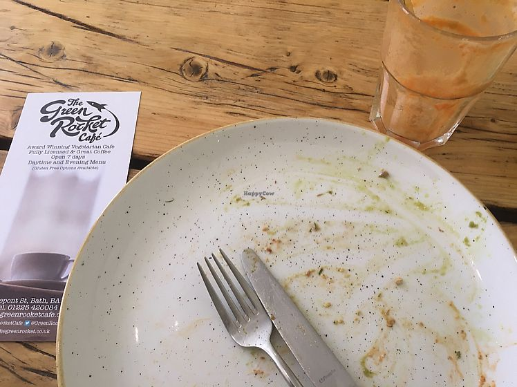 "Photo of The Green Rocket Cafe  by <a href=""/members/profile/Vickoz"">Vickoz</a> <br/>Felafel sandwich and Essential juice. Oops. I was hungry and it was delicious! <br/> June 15, 2017  - <a href='/contact/abuse/image/36987/269437'>Report</a>"