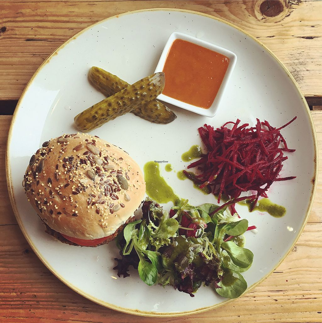 "Photo of The Green Rocket Cafe  by <a href=""/members/profile/ClareKnighton"">ClareKnighton</a> <br/>Rice burger  <br/> December 23, 2017  - <a href='/contact/abuse/image/36987/338407'>Report</a>"