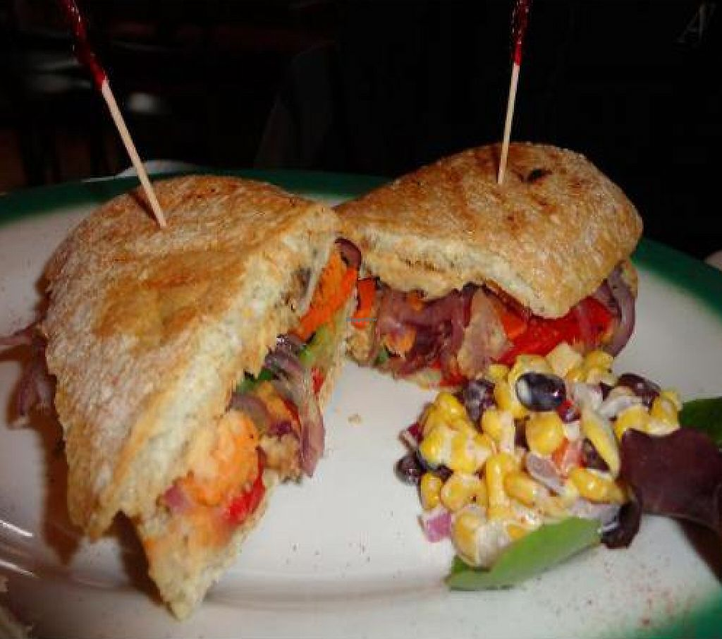 "Photo of Brews N Bytes Internet Cafe and Eatery  by <a href=""/members/profile/PennsyltuckyVeggie"">PennsyltuckyVeggie</a> <br/>Vegan Putini Panini <br/> February 15, 2012  - <a href='/contact/abuse/image/3700/223129'>Report</a>"