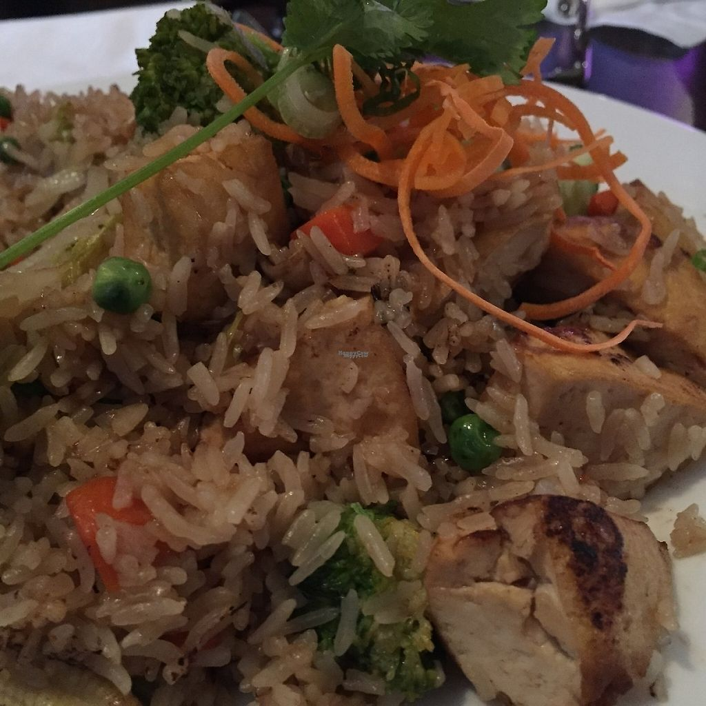"""Photo of Cravin Thai  by <a href=""""/members/profile/SavoyTruffle"""">SavoyTruffle</a> <br/>Vegetable fried rice. They were generous with the tofu, which was great! <br/> March 5, 2017  - <a href='/contact/abuse/image/37012/232836'>Report</a>"""