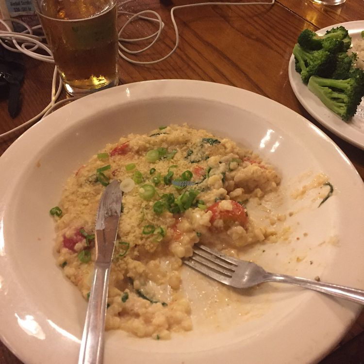 """Photo of Cafe at The Yosemite Bug  by <a href=""""/members/profile/RiaMcmahon"""">RiaMcmahon</a> <br/>sweet corn risotto, can be vegan  <br/> September 8, 2016  - <a href='/contact/abuse/image/37043/174232'>Report</a>"""