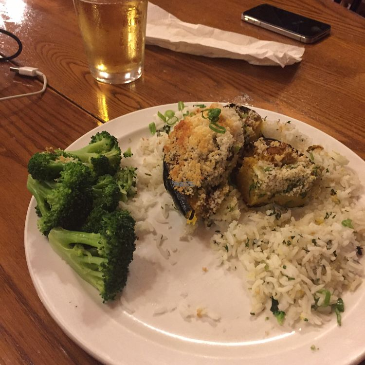 """Photo of Cafe at The Yosemite Bug  by <a href=""""/members/profile/RiaMcmahon"""">RiaMcmahon</a> <br/>curried veg and rice stuffed into a squash  <br/> September 8, 2016  - <a href='/contact/abuse/image/37043/174233'>Report</a>"""
