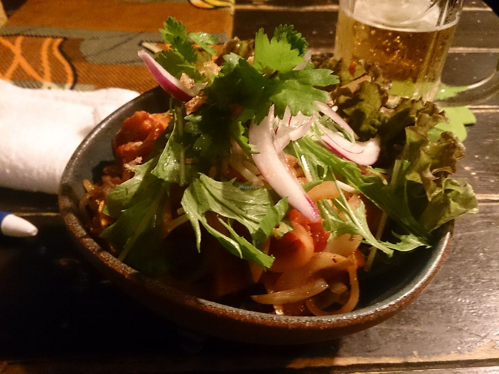 """Photo of Asian Chample Foods Goya  by <a href=""""/members/profile/FoodIsNeverWaste"""">FoodIsNeverWaste</a> <br/>The """"Spicy Vege Goreng"""" 690¥ (19.09.17) <br/> September 12, 2017  - <a href='/contact/abuse/image/37059/303627'>Report</a>"""