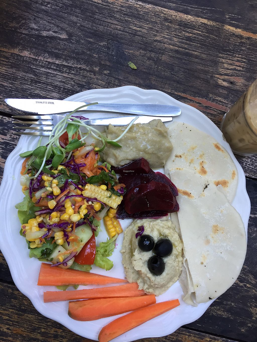 "Photo of Om Garden Cafe  by <a href=""/members/profile/ClaudiaMarie"">ClaudiaMarie</a> <br/>Mezze plate, made vegan  <br/> February 4, 2018  - <a href='/contact/abuse/image/37078/354653'>Report</a>"