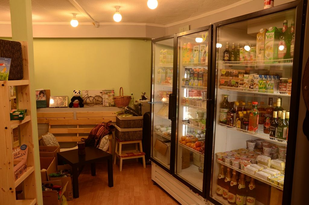 """Photo of Happy Vegan Shop  by <a href=""""/members/profile/Ciad"""">Ciad</a> <br/>Some of the refrigerated items (milk, juices, etc) <br/> March 1, 2016  - <a href='/contact/abuse/image/37080/138400'>Report</a>"""