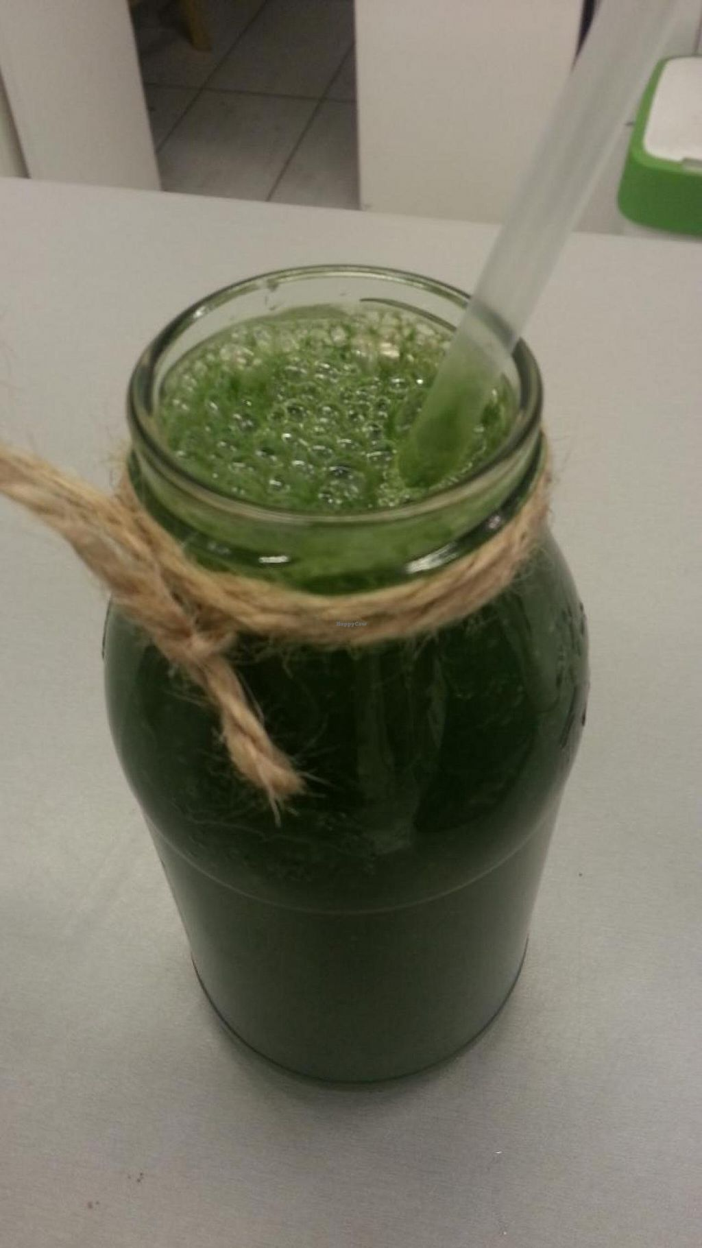 """Photo of Organic Corner Food Store and Bistro  by <a href=""""/members/profile/eric"""">eric</a> <br/>spirulina shake <br/> May 10, 2015  - <a href='/contact/abuse/image/37085/101801'>Report</a>"""
