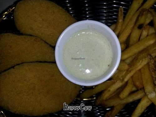 """Photo of CLOSED: Rawsheed's Raw Vegan Fusion  by <a href=""""/members/profile/pgnlvr22b"""">pgnlvr22b</a> <br/>Wind Eagle Un Fish n Chips-Crispy golden battered soy fish with fries and Tongva tarter sauce <br/> February 23, 2013  - <a href='/contact/abuse/image/37123/44606'>Report</a>"""