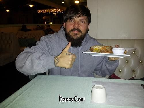 """Photo of CLOSED: Rawsheed's Raw Vegan Fusion  by <a href=""""/members/profile/pgnlvr22b"""">pgnlvr22b</a> <br/>Happy with his Stomping Horse Seitan <br/> February 23, 2013  - <a href='/contact/abuse/image/37123/44612'>Report</a>"""