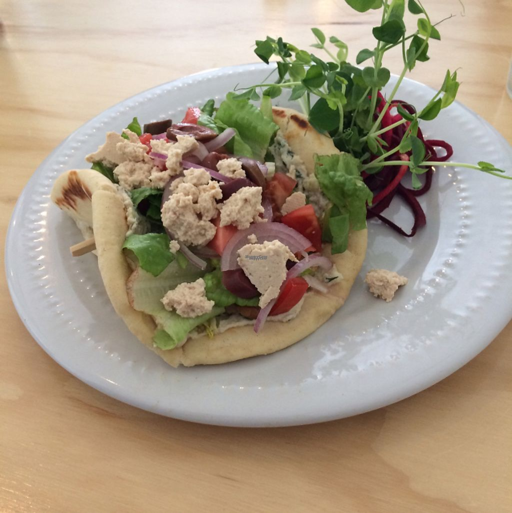 "Photo of Greens Organic Cafe and Market  by <a href=""/members/profile/H-bob"">H-bob</a> <br/>Vegan Gyro <br/> March 22, 2017  - <a href='/contact/abuse/image/37125/239479'>Report</a>"