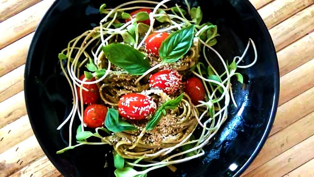 """Photo of CLOSED: The Tea Tree Cafe  by <a href=""""/members/profile/NokkThanchanok"""">NokkThanchanok</a> <br/>Cashew Pesto Pasta <br/> May 7, 2017  - <a href='/contact/abuse/image/37169/256569'>Report</a>"""
