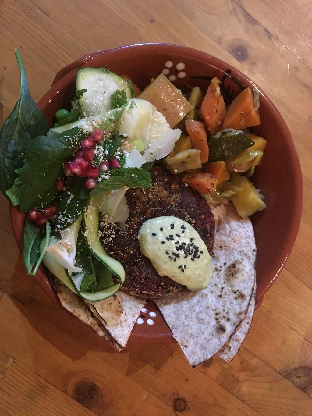 """Photo of Princesa do Castelo  by <a href=""""/members/profile/msousa"""">msousa</a> <br/>Beetroot Burger plate! ?? Stewed root veg and potato Lovely salad with a hint of anís and açaí <br/> September 19, 2017  - <a href='/contact/abuse/image/37171/306228'>Report</a>"""
