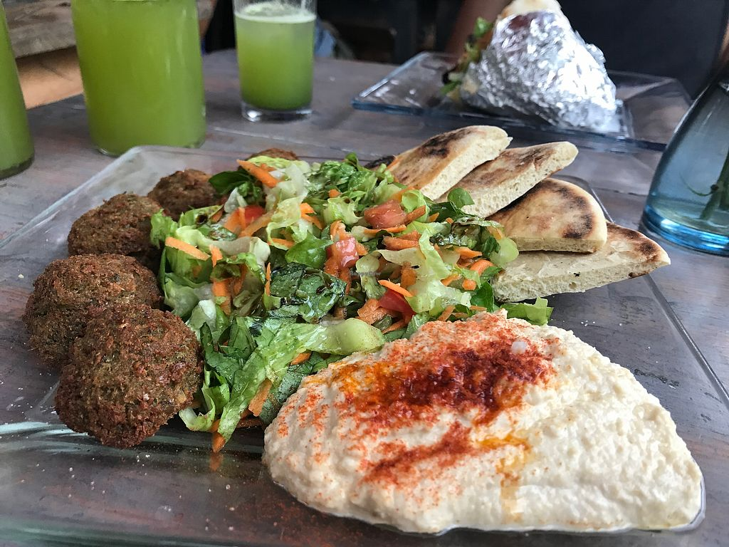 """Photo of Falafel and Friends  by <a href=""""/members/profile/Xoch"""">Xoch</a> <br/>Vegan falafel salad with hummus  <br/> December 6, 2017  - <a href='/contact/abuse/image/37174/332956'>Report</a>"""
