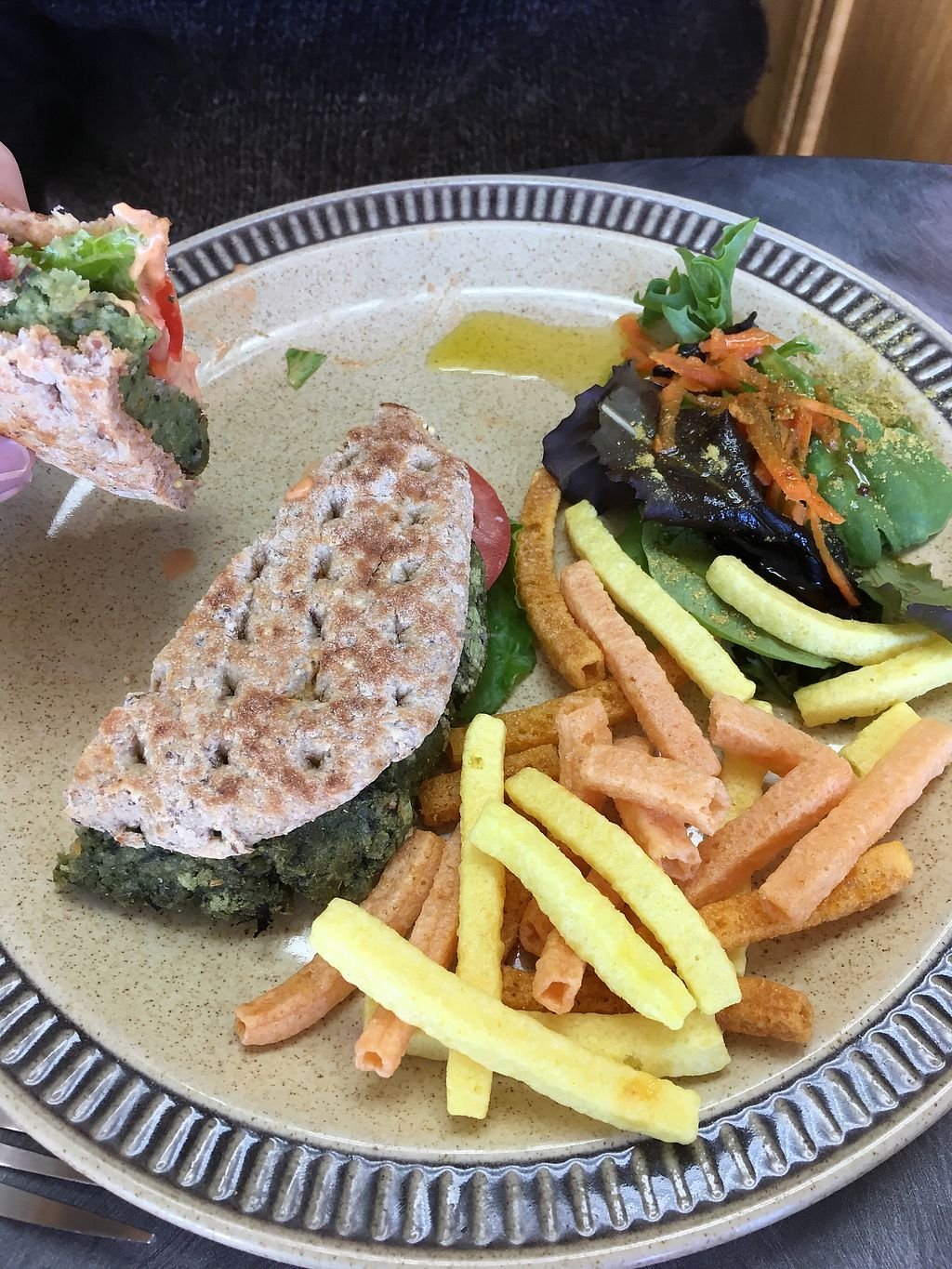 """Photo of Whole Life Natural Market  by <a href=""""/members/profile/Scholemillers"""">Scholemillers</a> <br/>Black bean burger <br/> October 11, 2017  - <a href='/contact/abuse/image/37181/314272'>Report</a>"""