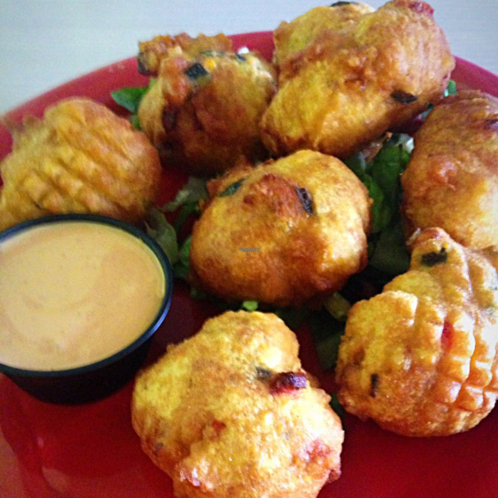 """Photo of Senor Veggie  by <a href=""""/members/profile/RunningWithWyatt"""">RunningWithWyatt</a> <br/>Poblano corn fritters <br/> August 17, 2016  - <a href='/contact/abuse/image/37190/169549'>Report</a>"""