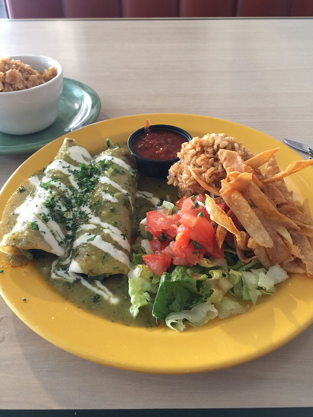 """Photo of Senor Veggie  by <a href=""""/members/profile/andoba"""">andoba</a> <br/>Enchiladas Verdes <br/> December 15, 2017  - <a href='/contact/abuse/image/37190/335845'>Report</a>"""