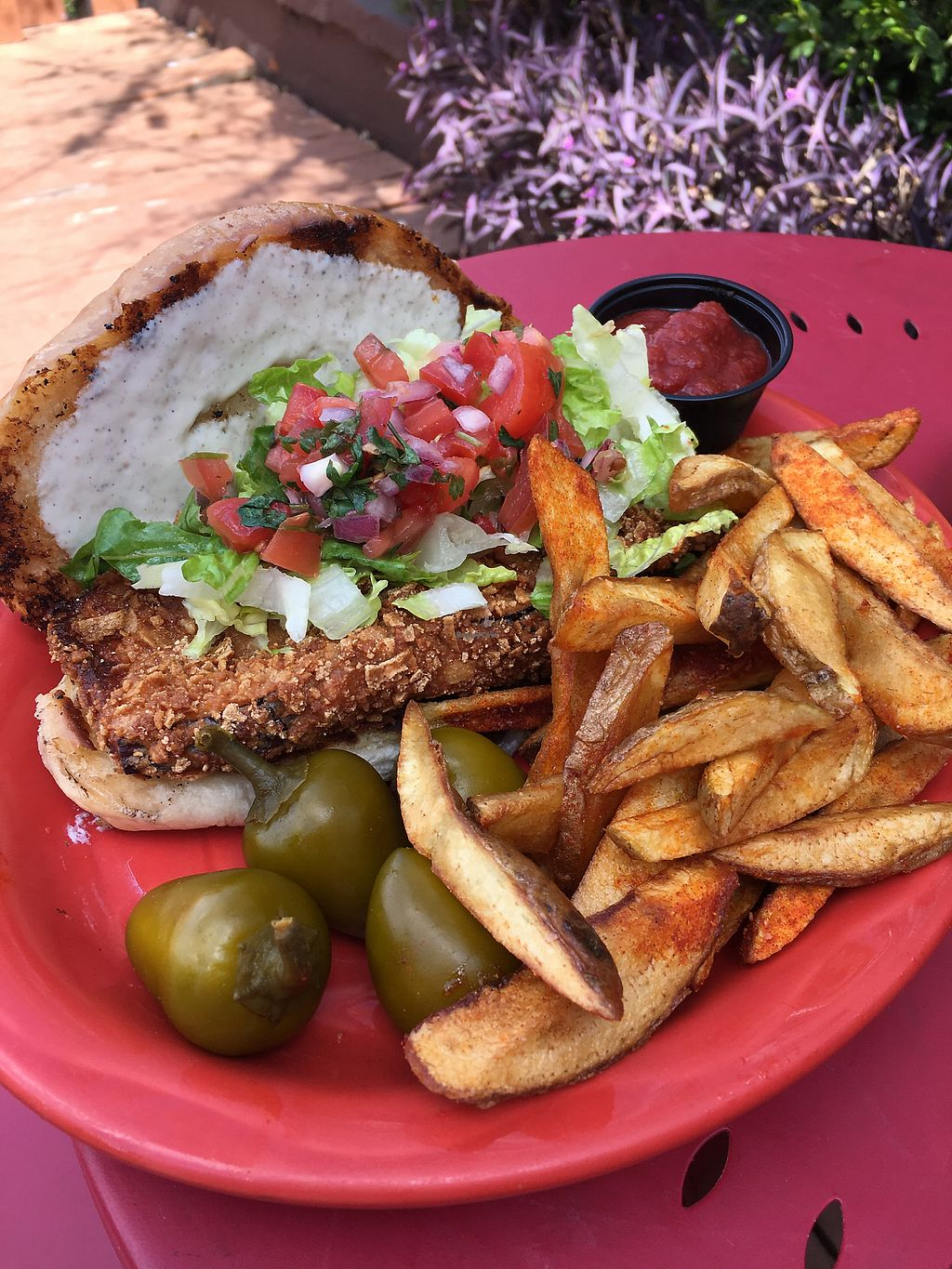 """Photo of Senor Veggie  by <a href=""""/members/profile/giant%20bunnie"""">giant bunnie</a> <br/>Delicious fried eggplant sandwich  <br/> March 23, 2018  - <a href='/contact/abuse/image/37190/374998'>Report</a>"""