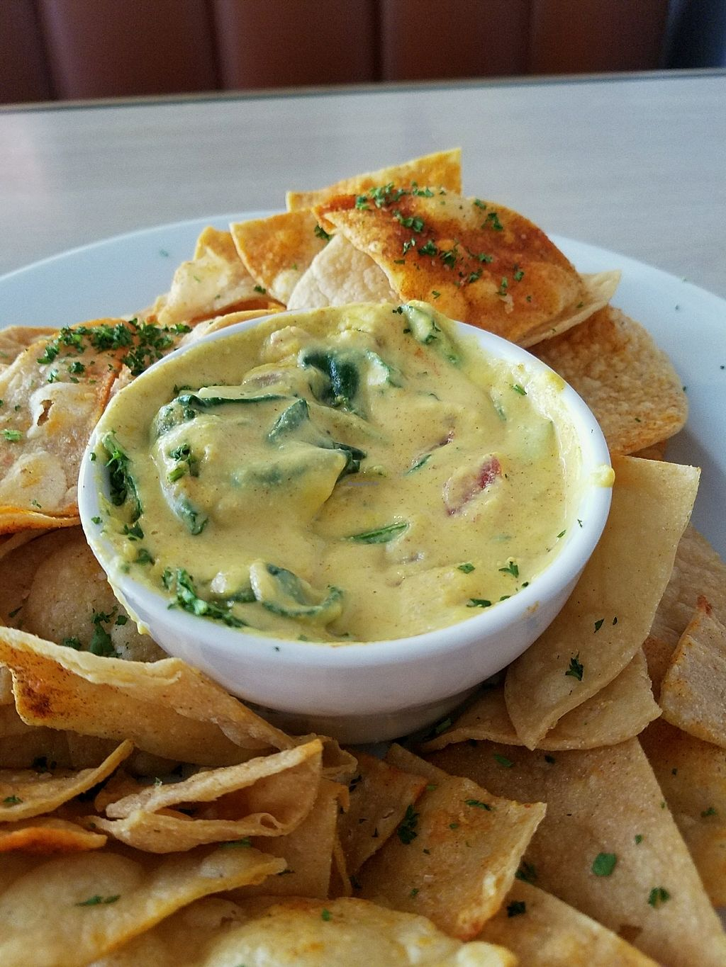 """Photo of Senor Veggie  by <a href=""""/members/profile/gostofish"""">gostofish</a> <br/>spinach queso (vegan) <br/> April 10, 2018  - <a href='/contact/abuse/image/37190/383474'>Report</a>"""