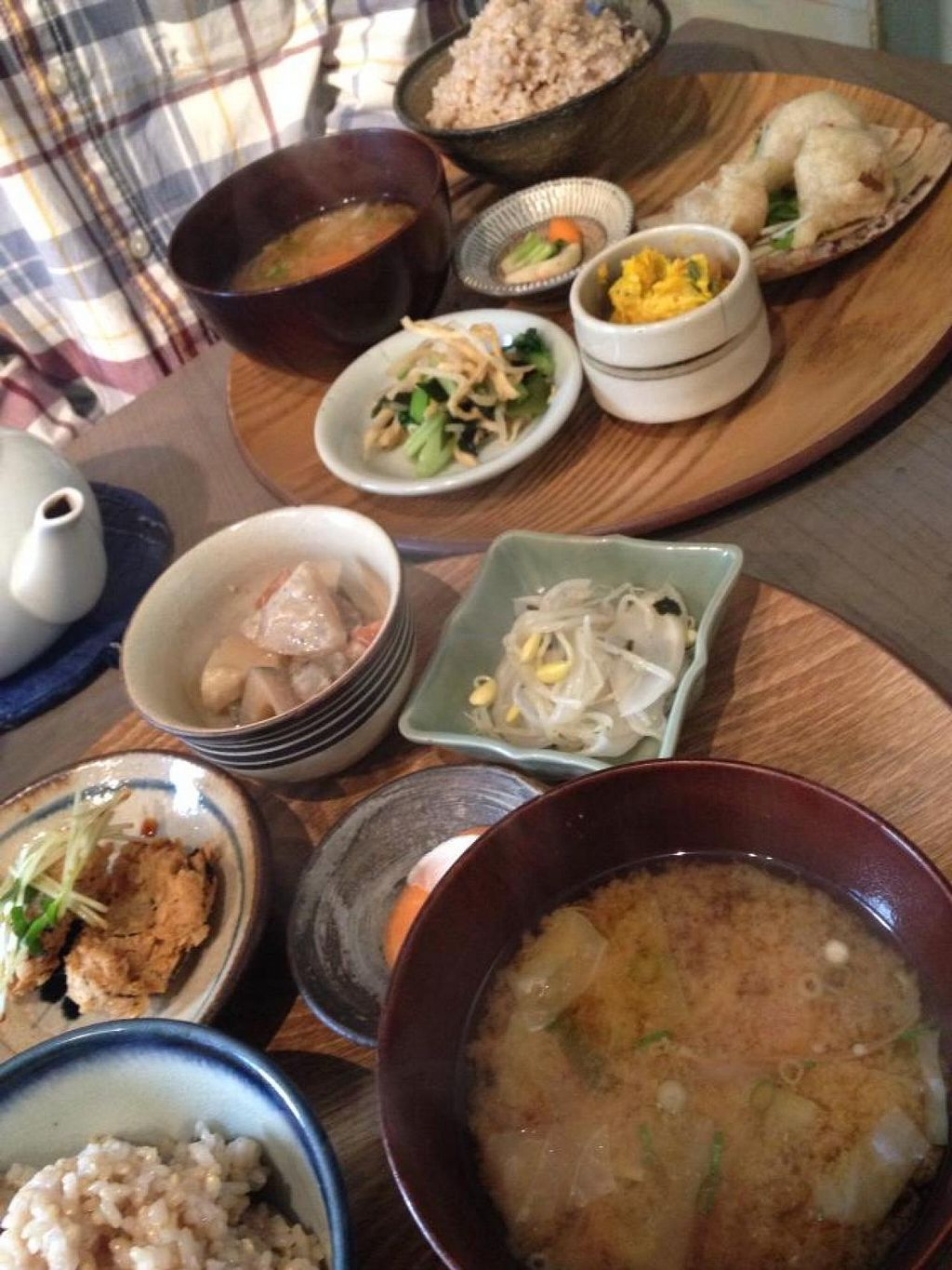 """Photo of CLOSED: Hitoto  by <a href=""""/members/profile/umebossy"""">umebossy</a> <br/>Hitoto lunch plates. There were 6 deli items to choose from so we had 3 each. Simple flavours, nice and filling <br/> March 8, 2014  - <a href='/contact/abuse/image/37199/65521'>Report</a>"""