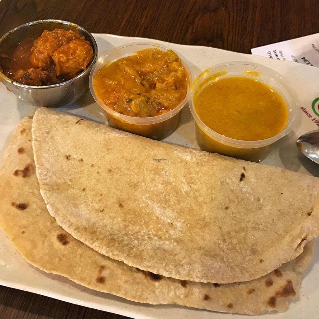 "Photo of Ananda Bhavan Vegetarian - Business Park Ave  by <a href=""/members/profile/kkylaye"">kkylaye</a> <br/>chapati set + veg (+mock meat curry)  <br/> March 2, 2018  - <a href='/contact/abuse/image/37225/365629'>Report</a>"