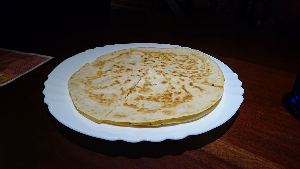 """Photo of Fresh Bakery & Cafe - Vegan Taipei  by <a href=""""/members/profile/V-for-Vegan"""">V-for-Vegan</a> <br/>Mexican Quesadilla <br/> March 19, 2018  - <a href='/contact/abuse/image/37227/372920'>Report</a>"""