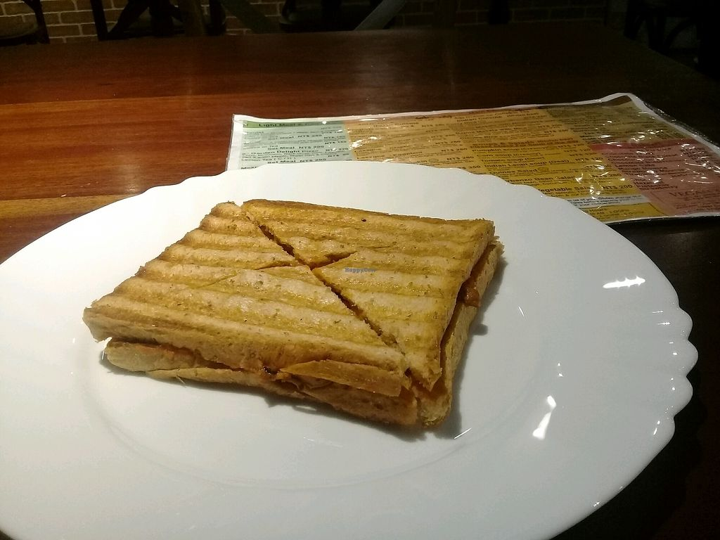 """Photo of Fresh Bakery & Cafe - Vegan Taipei  by <a href=""""/members/profile/Smolphi"""">Smolphi</a> <br/>Cheese&meat panini <br/> March 29, 2018  - <a href='/contact/abuse/image/37227/377576'>Report</a>"""