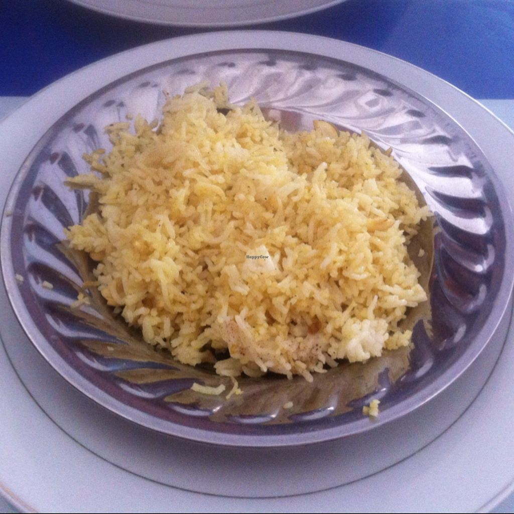 """Photo of Nisha Restaurant  by <a href=""""/members/profile/Arvid"""">Arvid</a> <br/>Saffron rice (15,000 kip) <br/> February 15, 2016  - <a href='/contact/abuse/image/37229/136508'>Report</a>"""