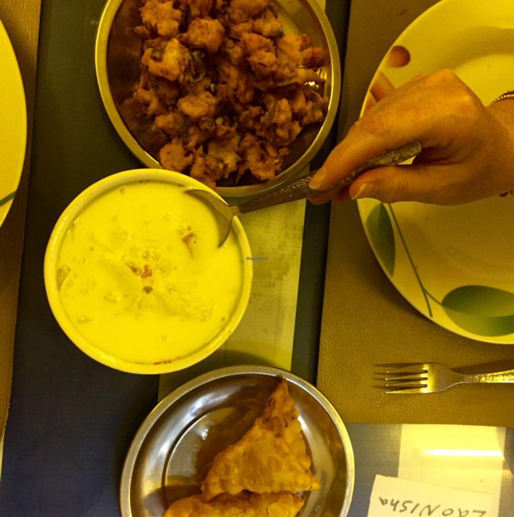 "Photo of Nisha Restaurant  by <a href=""/members/profile/Gillsabroad"">Gillsabroad</a> <br/>veggie samosa & pakora yum yum  <br/> July 26, 2016  - <a href='/contact/abuse/image/37229/162398'>Report</a>"
