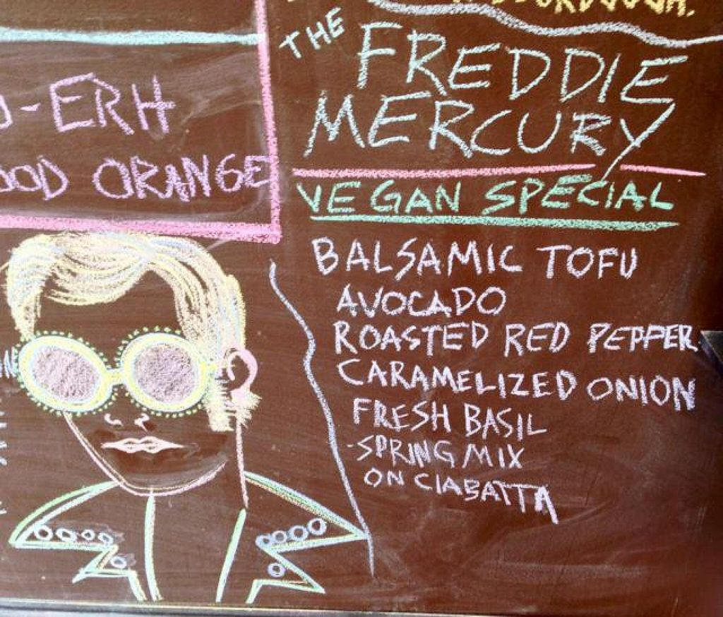 """Photo of Grindhouse Cafe  by <a href=""""/members/profile/happycowgirl"""">happycowgirl</a> <br/>cool chalk menu board <br/> March 29, 2014  - <a href='/contact/abuse/image/37268/66697'>Report</a>"""