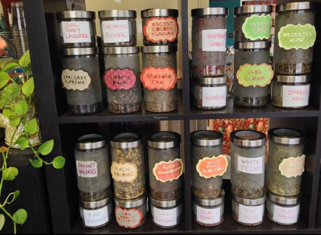 """Photo of Grindhouse Cafe  by <a href=""""/members/profile/happycowgirl"""">happycowgirl</a> <br/>outstanding variety of teas <br/> March 29, 2014  - <a href='/contact/abuse/image/37268/66701'>Report</a>"""
