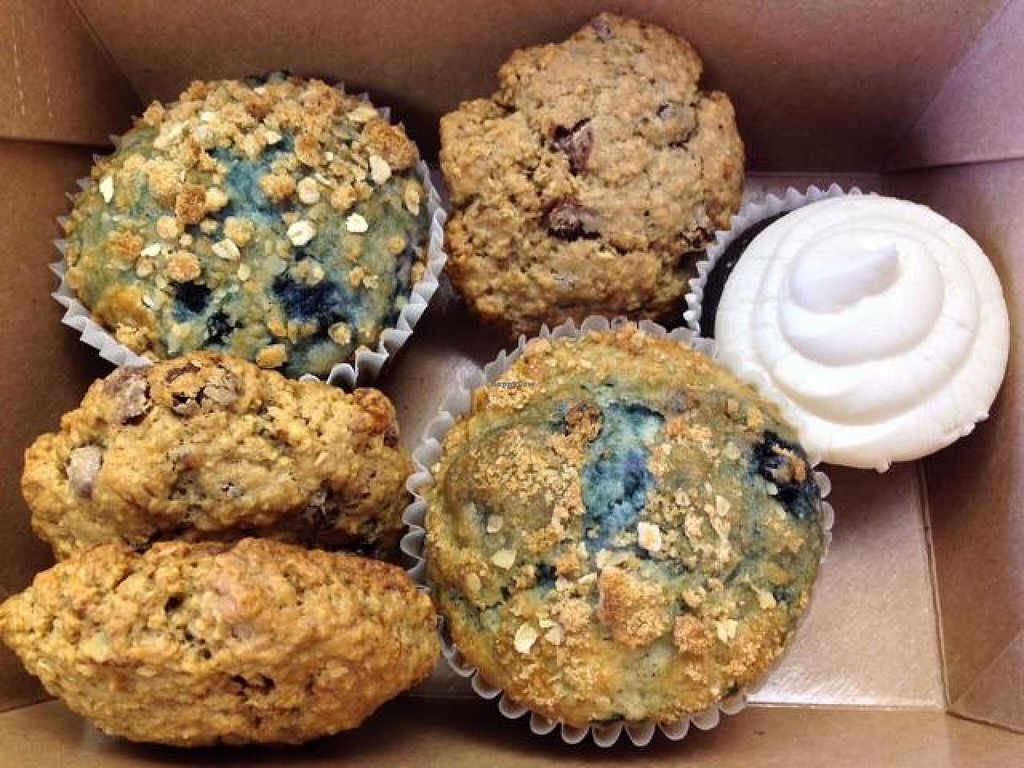 """Photo of Grindhouse Cafe  by <a href=""""/members/profile/happycowgirl"""">happycowgirl</a> <br/>vegan cookies, muffins & cupcakes <br/> March 29, 2014  - <a href='/contact/abuse/image/37268/66702'>Report</a>"""