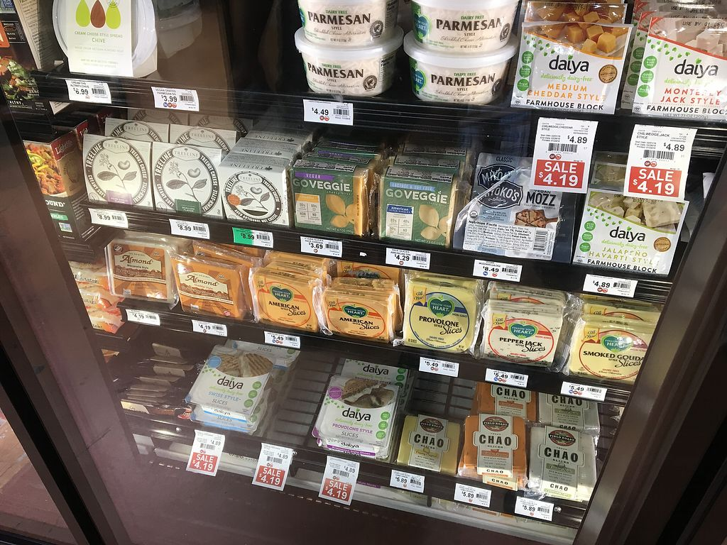 """Photo of Earth Origins Market  by <a href=""""/members/profile/LilMsVegan"""">LilMsVegan</a> <br/>Vegan cheese!  <br/> February 16, 2018  - <a href='/contact/abuse/image/37317/359991'>Report</a>"""