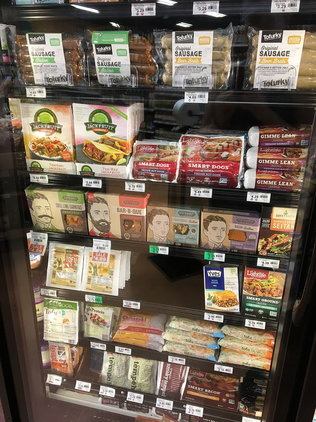 """Photo of Earth Origins Market  by <a href=""""/members/profile/LilMsVegan"""">LilMsVegan</a> <br/>Meat substitutes  <br/> February 16, 2018  - <a href='/contact/abuse/image/37317/359992'>Report</a>"""