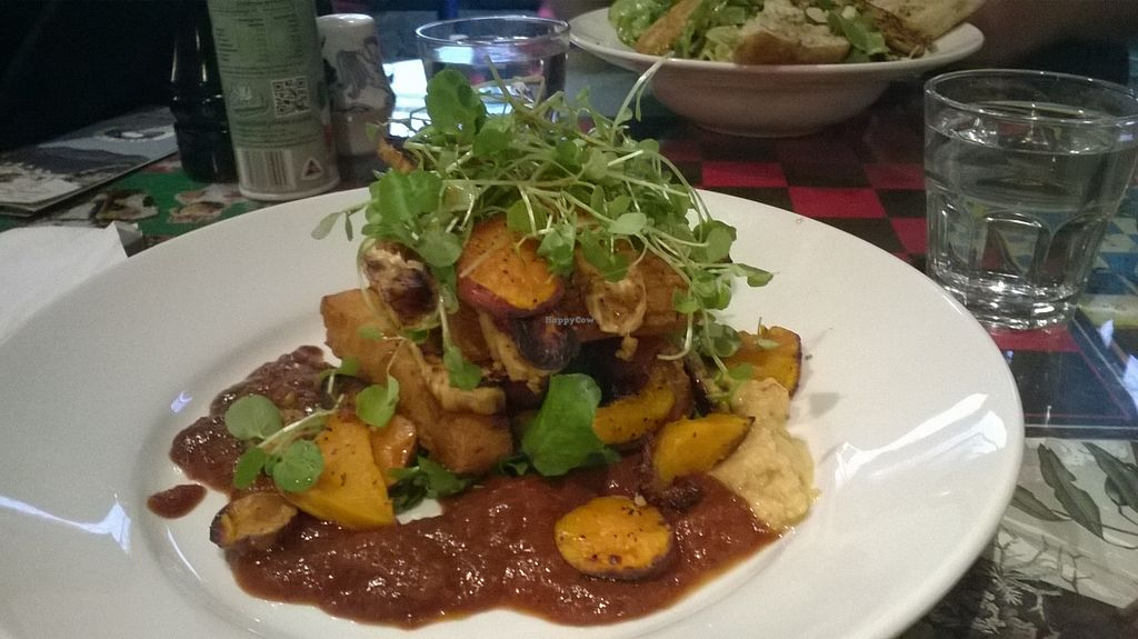 """Photo of East St Vegetarian Cafe and Bar  by <a href=""""/members/profile/Yolanda"""">Yolanda</a> <br/>vegan open tofu platter <br/> August 1, 2015  - <a href='/contact/abuse/image/37335/111899'>Report</a>"""