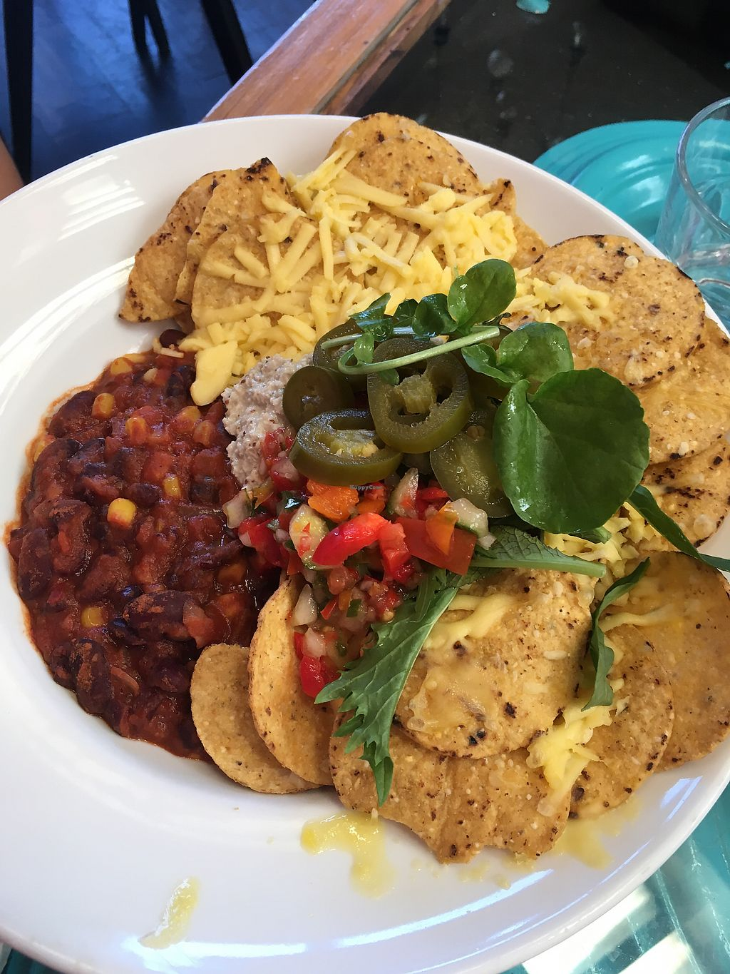 """Photo of East St Vegetarian Cafe and Bar  by <a href=""""/members/profile/perkonius"""">perkonius</a> <br/>Nachos <br/> December 9, 2017  - <a href='/contact/abuse/image/37335/333666'>Report</a>"""
