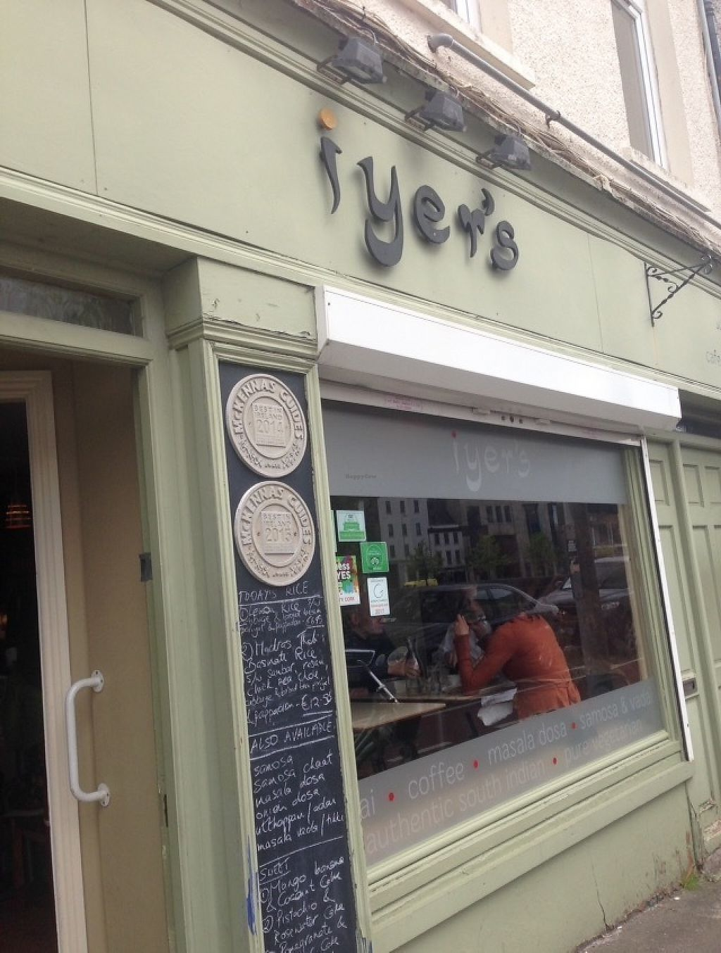 "Photo of Iyer's  by <a href=""/members/profile/Tamasin"">Tamasin</a> <br/>Cute Cork city veggie Indian eatery overlooking the River Lee  <br/> May 18, 2017  - <a href='/contact/abuse/image/37353/260110'>Report</a>"