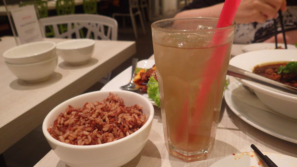 """Photo of Whole Earth Vegetarian  by <a href=""""/members/profile/deadpledge"""">deadpledge</a> <br/>Lemongrass Juice and brown rice <br/> June 11, 2016  - <a href='/contact/abuse/image/3736/153422'>Report</a>"""