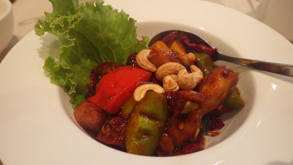 """Photo of Whole Earth Vegetarian  by <a href=""""/members/profile/deadpledge"""">deadpledge</a> <br/>Spicy kong po monkeyhead mushrooms <br/> June 11, 2016  - <a href='/contact/abuse/image/3736/153424'>Report</a>"""