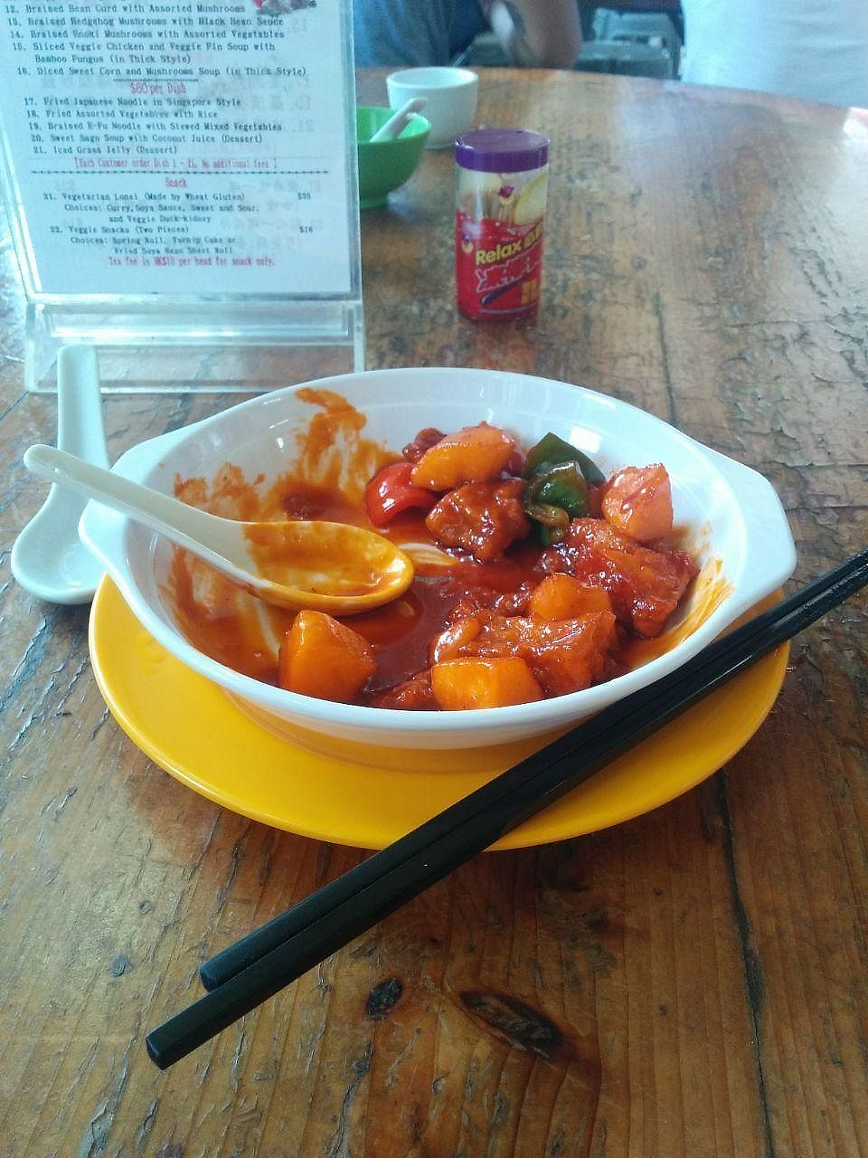 "Photo of Ten Thousand Buddhas Monastery Vegetarian Canteen  by <a href=""/members/profile/FlokiTheCat"">FlokiTheCat</a> <br/>Ribs in sour and sweet sauce <br/> June 27, 2017  - <a href='/contact/abuse/image/37398/273933'>Report</a>"