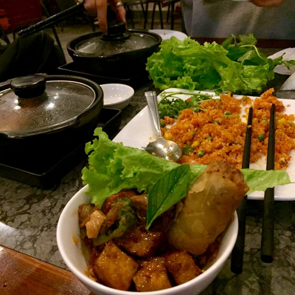 """Photo of Tu Hanh  by <a href=""""/members/profile/Shannybadds"""">Shannybadds</a> <br/>veggie & tofu sizzling clay pots! <br/> August 14, 2016  - <a href='/contact/abuse/image/37419/168546'>Report</a>"""