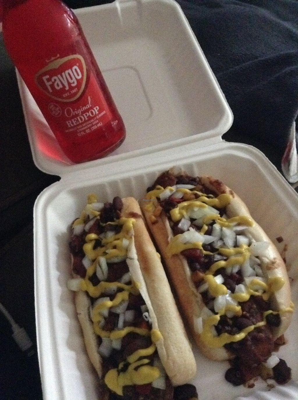 "Photo of The Burger Spot  by <a href=""/members/profile/KITTYBO23"">KITTYBO23</a> <br/> Tofu dogs and vegan quinoa chili!  <br/> July 1, 2016  - <a href='/contact/abuse/image/37432/157232'>Report</a>"